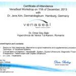 Venaseal Certificate of Attendence
