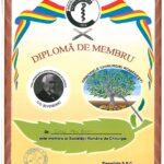 Colourful membership diploma